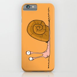 Funny snail with silly face expression iPhone Case