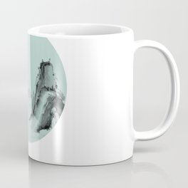 Landscape painting Chinese watercolor circle & lines Coffee Mug