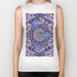 Butterflies against an abstract floral kaleidoscope Biker Tank
