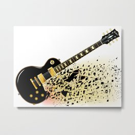Shattering Blues Guitar Metal Print