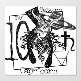 Capricorn - Zodiac Sign Canvas Print