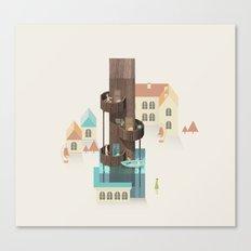Resort Type - Letter I Canvas Print