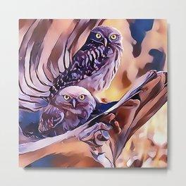 A Pair of Owls Metal Print