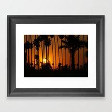 Striped Sunset Framed Art Print