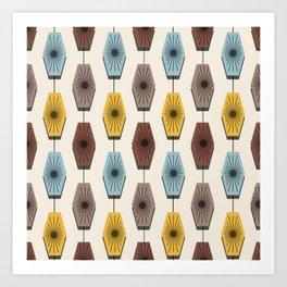 Mid Century Modern Pattern Art Print