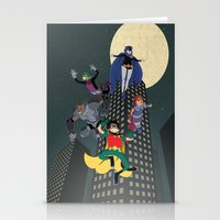 teen titans Stationery Cards featuring Teen Titans by Fuacka