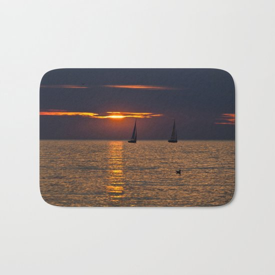 Summer sunset on the Baltic Sea Bath Mat