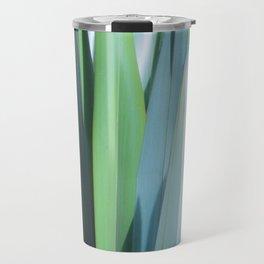 blue and green leaves Travel Mug