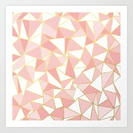 Ab Out Blush Gold 2 Art Print