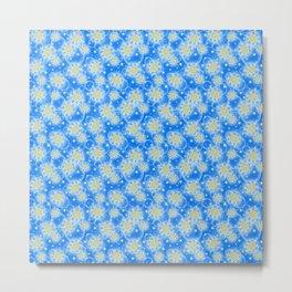 Inspirational Glitter & Bubble pattern Metal Print