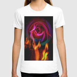 Fire rose T-shirt