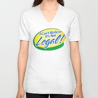 cannabis V-neck T-shirts featuring Legalize Cannabis by WeedPornDaily