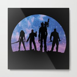 Guardians of the Galaxy - Color Metal Print