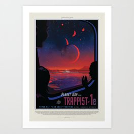 NASA Visions of the Future - Planet Hop from Trappist-1e Art Print