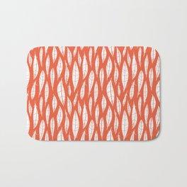 Quail Feathers (Poppy) Bath Mat
