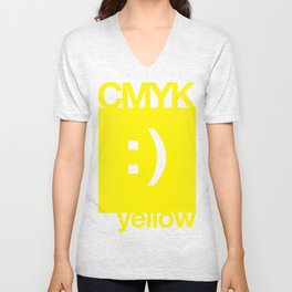 CMYK Friends - Yellow Unisex V-Neck