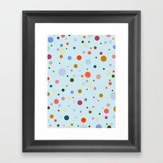 Blue Confetti Framed Art Print