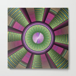 Round and Colorful Metal Print