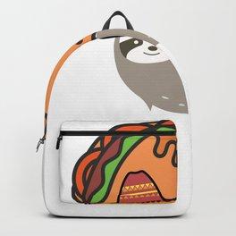 Funny taco sloth novelty shirt -cute animal lovers Backpack