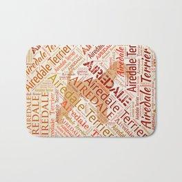 Airedale Terrier Word Art Bath Mat