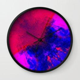 02-14-36 (Red Blue Glitch) Wall Clock