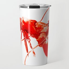 Red Kitchen Seafood Red Lobster design, art, painting Boston Travel Mug