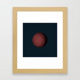 Planet Mars Low Poly Framed Art Print