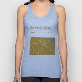 Wyoming In Gold Unisex Tank Top