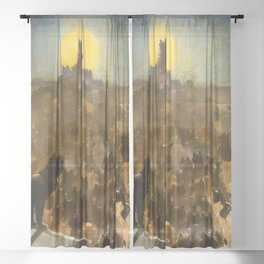 """Théophile Steinlen """"The Apotheosis of the Cats"""" Sheer Curtain"""