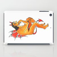 devil iPad Cases featuring Devil  by Christopher Chouinard
