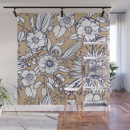 Autumnal bloom Wall Mural