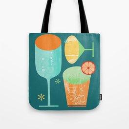 Pour & Drink (Blue) Kitchen or Bar Art Tote Bag
