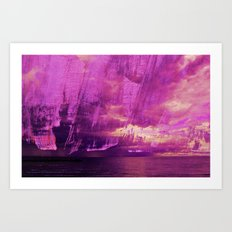 magenta storm Art Print