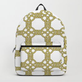 Gold & White Knotted Design Backpack