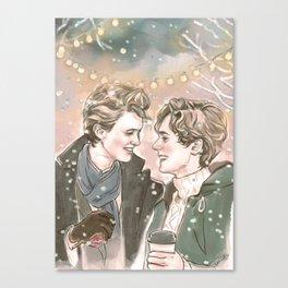 God Jul, Even and Isak Canvas Print