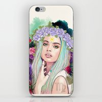 virgo iPhone & iPod Skins featuring Virgo by Sara Eshak