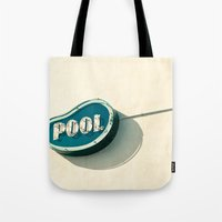 pool Tote Bags featuring Pool by bomobob