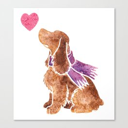 Watercolour English Cocker Spaniel Canvas Print