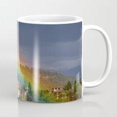 Rainbow over Dar alHorra Palace at Granada. Spain Mug