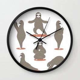 Sloth Workout Wall Clock