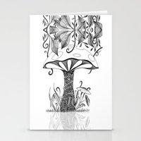 mushroom Stationery Cards featuring Mushroom by ink10 Designs