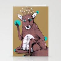 reindeer Stationery Cards featuring Reindeer by Skeeneart