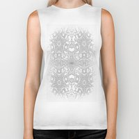 gray pattern Biker Tanks featuring Gray Stars by 2sweet4words Designs