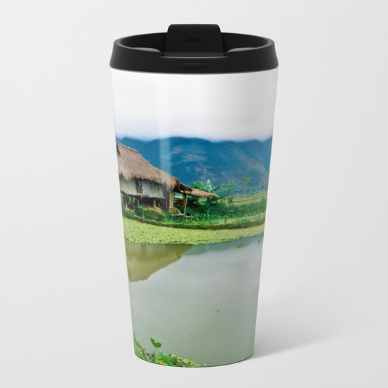 Mountain Village in Vietnam Metal Travel Mug