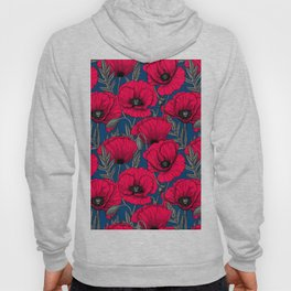 Night poppy garden  Hoody