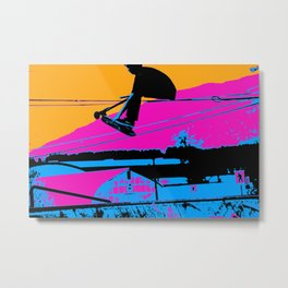 Tail Grabbing High Flying Scooter Metal Print