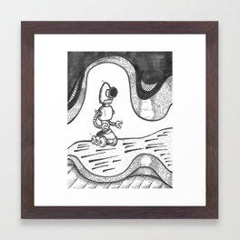 Robot in Space Framed Art Print