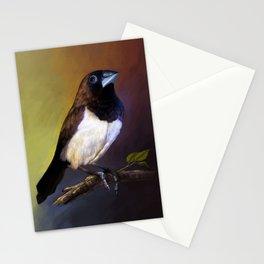 Javan munia realistic painting Stationery Cards