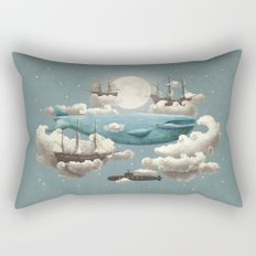 Ocean Meets Sky - colour option Rectangular Pillow