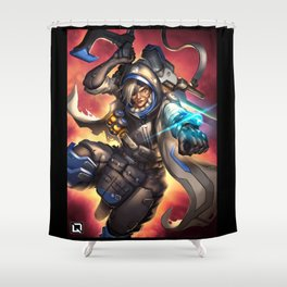 over ana watch Shower Curtain